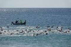 Traversée de la baie (hans pohl) Tags: portugal sesimbra setubal atlantique océan eau water bateaux boats people personnes sports