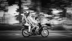 VIETNAM (ste2d - photography) Tags: travelphotography backpacker wanderlust beautifulplaces beautifuldestinations travelpic worldtravel travellers photography reportage travel travelling explore exploration trip people street city hanoi train road panning motorbike