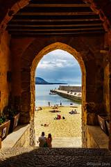 Cefalù beach (Eugenio GV Costa) Tags: cefalù sicilia sicily borgo sky clouds seaside village palermo outside mare acqua spiaggia sea water beac
