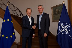NATO Secretary General meets Presidents of European Council and of European Commission (NATO) Tags: brussels belgium nato otan jensstoltenberg secretarygeneral donaldtusk europeanunion juncker