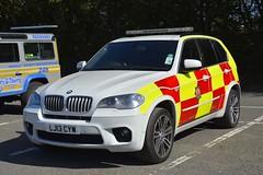 LJ13 CYW (S11 AUN) Tags: industry fire service association fai car station 4x4 vehicle emergency officer brigade response rescueservice lj13cyw bmw x5 msport