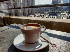 Coffee (xandriaam) Tags: coffee architecture rainbow cup coffelover milan duomo duomodimilan italy morning trip travel happiness