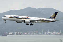 Singapore Airlines - Airbus A350-941 / 9V-SML @ Hong Kong (Miguel Cenon) Tags: singapore singaporeairlines singaporeairlinesa350 singaporeairlinesa359 9vsml vhhh airplane airplanespotting apegroup appgroup airport aircraft airbus aviation airbusa350 airbusa359 a350 a359 wings wing window widebody widebodyjet wheel wide winglet planespotting ppsg nikon d3300 twinengine trentxwb rollsroyce rrtrent