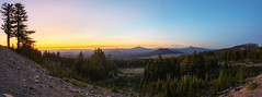Crater Lake National Park Sunset (Mike Ver Sprill - Milky Way Mike) Tags: crater lake sunset sunrise landscape nature outdoors panoramas pano beautiful trees tree oregon travel explore mike ver sprill hdr high dynamic range mountain mountains