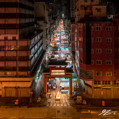 Follow The Line (TVZ Photography) Tags: hdr highdynamicrange square 1x1 yaumatei nightmarket templestreet tsimshatsui hongkong cityscape city urban roads lighttrails night evening lowlight longexposure sonya7riii sony 1635mm sel1635gm