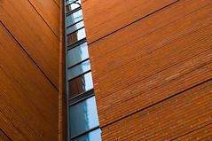 DSC_7568 lines - abstract architecture (Filip Patock) Tags: lines abstract abstraction architecture artistic art creative geometric geometry wall building bricks orange nikond3200 manchester minimalism urban photography perspective
