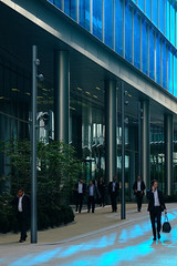 Blue Monday (The Green Album) Tags: blue glass london reflections monday work workers office architecture paddington street fujifilm xt2