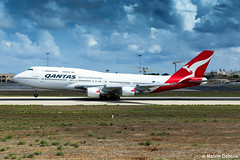 Qantas Boeing 747-438ER  |  VH-OEE  |  LMML (Melvin Debono) Tags: qantas boeing 747438er | vhoee lmml 32909 extended range nullarbor longreach melvin debono spotting spotters spotter canon eos 5d mark iv plane planes photography airport airplane aircraft aviation malta mla qf6031 qfa6031 6031 around the tour by constellation journeys aboard privately chartered 747 world one er ef 24105mm f4l is ii usm lens