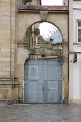 Kath. Pfarramt St. Martin, Jesuitenstraße 1, Bamberg (kate223332) Tags: bamberg bavaria germany door entry gateway portal deutschland