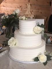 (backhomebakerytx) Tags: backhomebakery back home bakery cake wedding three tier ribbon texture bride brides