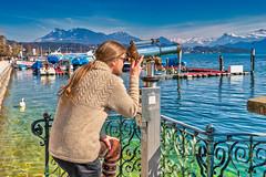 Luzern/Schweiz 21. März 2019 (karlheinz klingbeil) Tags: kintting nikon see lago switzerland city knitting lake fernglas suisse schweiz water 2470 telescope stadt tamron2470 wasser d810 lakelucerne stricken