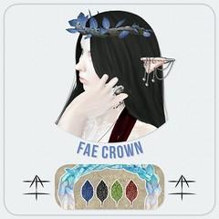 ^AH^ Fae Crown (Ars Hokori) Tags: thepoint thepointevent arshokori hokori ah fae elf fairy crown leaf unseelie minimalist elegance secondlife 3d fantasy tiara elven elvish braid braided wood vines