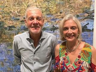 Collectors Rafael and Marijean Miyar at the LnS gallery opening
