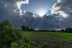 Clouds over a Normandy Field (pa_cosgrove) Tags: normandy france hedgerow farmer field clouds farme green sky sun sony a73 omaha