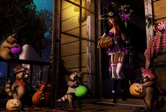 ~Trick or Treat~ (blu.moonwall) Tags: 2019 animesh avatar beauty blogger boots bowl candy catwa dance dress enchantress fantasy gacha halloween hextraordinary life loeil luas maitreyaonly medieval mesh music panda party pumpkin rsw second sl staff stealthic sunltry thearcade trash treat trick trompe