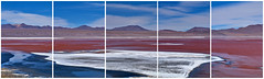 Laguna Colorada - Bolivia (W_von_S) Tags: lagunacolorada bolivia bolivien landschaft landscape paysage paesaggio panorama paisaje collage natur nature stitched red rot blue blau white weis wolken clouds himmel sky flamingos wvons werner sony sonyilce7rm2 outdoor southamerica südamerika