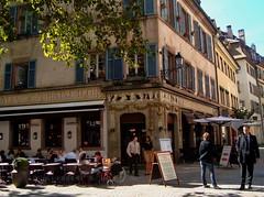 Strasbourg (ForceMajeureMontenegro) Tags: strasbourg street france alsace restaurant autumn building francuska cafe worldtrekker