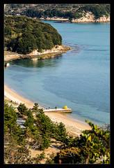 8ème jour / 8th day - Au-dessus de la citrouille jaune / Above the yellow pumkin - Naoshima (christian_lemale) Tags: naoshima island île nature landscape mer sea côte coast japon japan 直島 日本