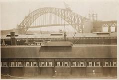 Sidney Harbour Bridge under construction (family photo) 2 (Aerialpete) Tags: sidneyharbourbridge bridgeconstruction
