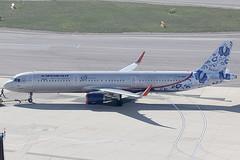 Aeroflot Russian Airlines Airbus 321-211 VP-BEE (c/n 6726) 95th anniversary colours. (Manfred Saitz) Tags: vienna airport schwechat vie loww flughafen wien aeroflot russian airlines airbus 321 a321 vpbee vpreg