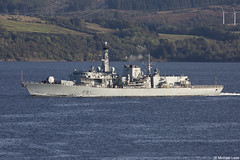 Royal Navy Type-23 (Duke-class) frigate HMS Sutherland, F81; Firth of Clyde, Scotland (Michael Leek Photography) Tags: ship vessel boat workingboat workboat warship frigate type23frigate type23 royalnavy rn firthofclyde clyde faslane gareloch hmnbclyde hmnb hmsneptune jointwarrior jointwarrior2019 dunoon argyllandbute argyll cowal cowalpeninsula scotland scottishcoastline scottishlandscapes scotlandslandscapes scottishshipping britainsarmedforces britainsnavy nato natoexercise portsmouth dukeclass michaelleek michaelleekphotography