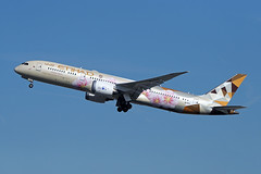 Etihad Airways   B787-9   A6-BLK (Globespotter) Tags: barcelonael prat etihad airways b7879 a6blk adnocchoosejapan livery
