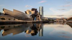 Guggenheim Museum (burnsmeisterj) Tags: olympus omd em1 bilbao guggenheim museum river reflection