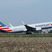 American Airlines plane takes off from Amsterdam Airport