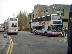 First Tridents in Falkirk (preselected) Tags: bus coach first bluebird east scotland midland dennis trident plaxton president