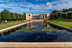 American Military Cemetery at Omaha Beach (pa_cosgrove) Tags: dday omaha beach military cemetery memorial graves reflectingpool pool water reflections ww2
