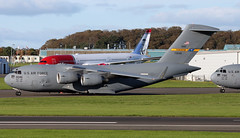 97-0046 (PrestwickAirportPhotography) Tags: egpk prestwick airport usaf united states air force boeing c17a globemaster 970046 charleston mobility command