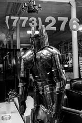 Dial a Knight (RW Sinclair) Tags: carl dscrx100m3 digital m3 rx100 rx100m3 rx100iii sony variosonnar zeiss iii chicago 2019 october fall autumn bnw blackandwhite monochrome knight armor armour