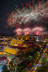 Fireworks at Leong Nam Temple (BP Chua) Tags: chinese culture cultural fireworks colours singapore night temple nikon sigma
