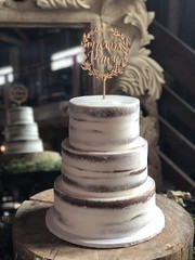 (backhomebakerytx) Tags: backhomebakery back home bakery cake three tier naked bride brides wedding