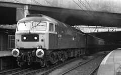 Old Oak Common Class 47 47500 Great Britain at New Street 1980 (flashbangmilly) Tags: 47500 poole newcastle nst