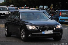 BMW 7-Series - Switzerland, diplomatic plate (Helvetics_VS) Tags: licenseplate switzerland geneva un diplomaticplate