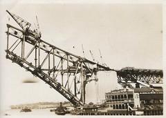 Sidney Harbour Bridge under construction (family photo) 3 (Aerialpete) Tags: sidneyharbourbridge bridgeconstruction