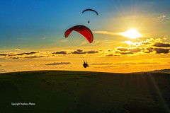 Paraglider at sunset. (PANDOOZY PHOTOS) Tags: devilsdyke eastsussex sussex westsussex uk gb aonb countryside landscape sunset unitedkingdom greatbritain hills hillside trees rollinghills nationaltrust beautyspot southdowns nationalpark southdownsnationalpark brighton hove southernengland southengland british english valley suusexweald drychalk touristattraction tourism beautiful nature scenic englishcountryside britishcountryside village villages southdownsway stockimage stockphoto autumn touristdestination eveninglight paraglider paragliding sport hobby hobbie pastime canopy paragliders paraglyders fly flying fun activity paraglides