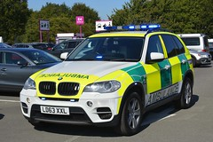 LD63 XXL (S11 AUN) Tags: devon freewheelers bloodbikes ambulance service bmw x5 xdrive30d 4x4 urgent blood organ transport trauma team rrv rapid response vehicle paramedic responsecar 999 emergency uk england ld63xxl