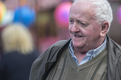 Portrait of a happy man (Frank Fullard) Tags: frankfullard fullard candid street portrait happy smiling smile face color colour ballinasloe horse fair festival galway irish ireland older