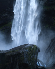 Thundering (Andrea Knobel) Tags: landscape nature outdoors adventure exploration hike hiking mountains waterfall water falls cascade rocks rocky valley flow flowing misty switzerland schweiz suisse svizzera