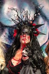Lady of the Night (Andy J Newman) Tags: scottkelby nikon london girl photowalk d500 zombie woman lady meetup zombiewalk londonphotographic england unitedkingdom