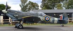 Supermarine Spitfire LF IX G-CICK  NH341 (Fleet flyer) Tags: supermarinespitfirelfixgcicknh341 supermarinespitfirelfixgcick supermarine spitfire lf ix gcick nh341 northweald