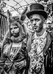 The Happy Couple (Andy J Newman) Tags: x100 x100f scottkelby london bandw photowalk fuji blackandwhite zombiewalk zombie fujifilm londonphotographic england unitedkingdom