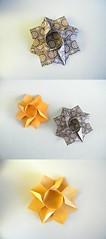 Estrella portavelas - Birgit Shilling (Rui.Roda) Tags: origami papiroflexia papierfalten candle holder star estrela étoile estrella portavelas birgit shilling