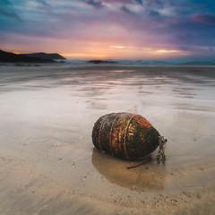 The Lost Buoy (Timothy Gilbert) Tags: microfourthirds lovecornwall panasonic1235mmf28x beach wideangle sunset gx8 m43 polzeath lumix microfournerds cornwall panasonic coast wave rocks