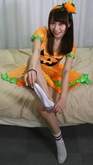 Here, Take My Sock. (emotiroi auranaut) Tags: girl beautiful cute halloween sock dress braces seasonal pretty lovely sweet