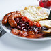 Full English breakfast, close-up view