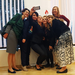 Selfie (kaprysnamorela) Tags: selfie cellphone women girls pose faces smile meeting samsung inside afternoon europe image light poland people perspective warsaw