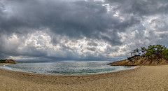 Sea, beach, autumn (nickneykov) Tags: nikon d810 nikond810 irix 15mm irix15mm greece sea beach autumn clouds water trees